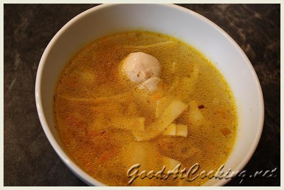 Рецепт куриного супа с лапшой с фото