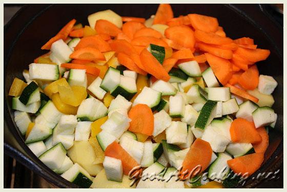 Рецепт индейки с овощами