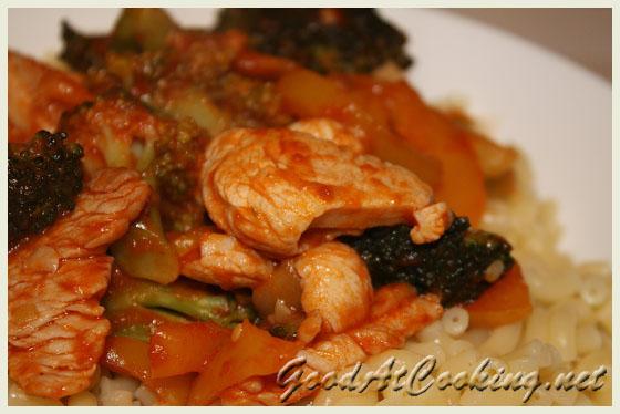 Рецепт макарошек с индейкой с пошаговыми фотографиями