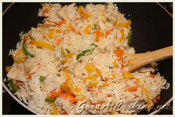 Рецепт риса с куриным филе с пошаговыми фотографиями