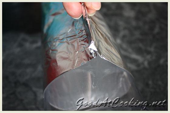 Процесс изготовления форм для куличей из фольги с пошаговыми фотографиями