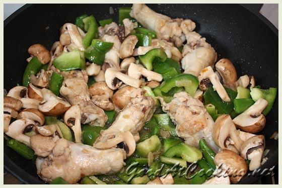 Рецепт куриных крылышек с грибами с пошаговыми фотографиями