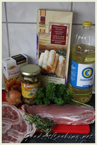 Рецепт свиного штруделя с пошаговыми фотографиями