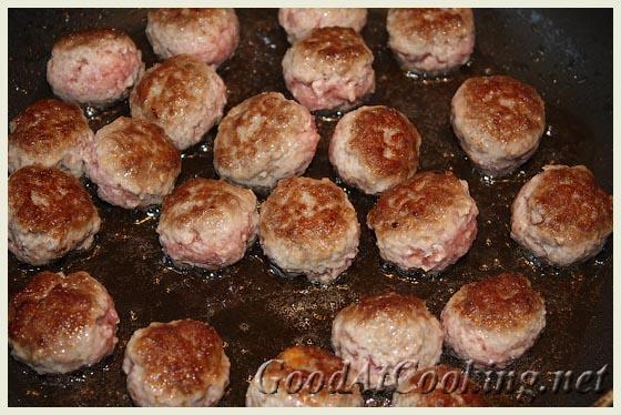 Рецепт фрикаделек, запеченных с капустой с пошаговыми фотографиями
