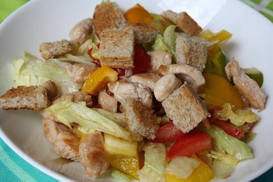 Салат цезарь с индейкой рецепт с фото