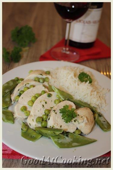Рецепт куриного филе с горошком с пошаговыми фотографиями