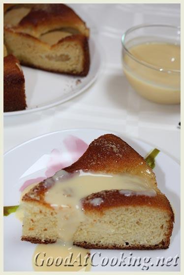 Рецепт грушевого пирога с ванильным соусом с пошаговыми фото