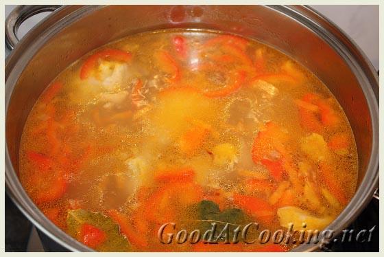 Рецепт куриного супа с грибами с пошаговыми фотографиями