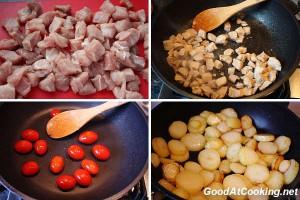 Рецепт картофеля с зеленой фасолью с пошаговыми фотографиями