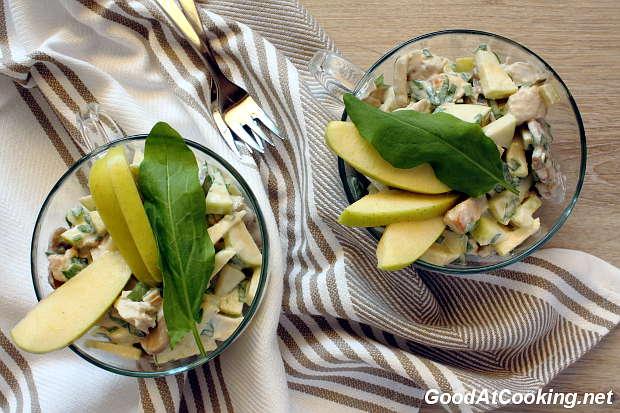 Рецепт куриного салата с щавелем с пошаговыми фотографиями