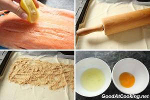 Рецепт красной рыбы в тесте с пошаговыми фотографиями