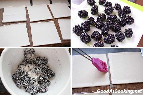 Рецепт слоек с ежевикой с пошаговыми фотографиями