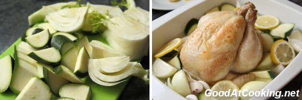 Нежное сочное куриное мясо с ароматом лимона и чеснока, сил на приготовление тратится мало, а получается очень вкусно. Очень хорошо подойдет к праздничному ужину — поставил в духовку курочку и можно занятся салатами и закусками.