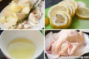 Рецепт курицы запеченной с лимоном и чесноком с пошаговыми фото