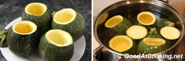 Рецепт фаршированных круглых кабачков с пошаговыми фотографиями