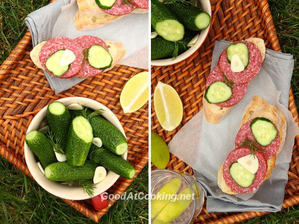 Рецепт малосольных огурцов с пошаговыми фотографиями