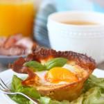 Рецепт корзинок из блинов с яйцом и грибами с пошаговыми фото