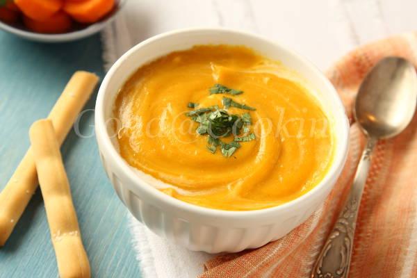 Рецепт морковного супа-пюре с кокосовым молоком с пошаговыми фото