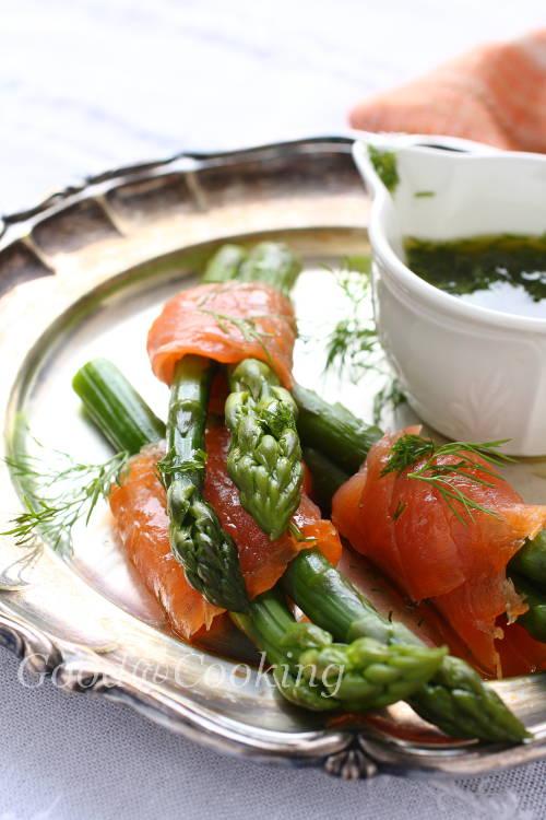 Рецепты закусок с зеленой спаржей
