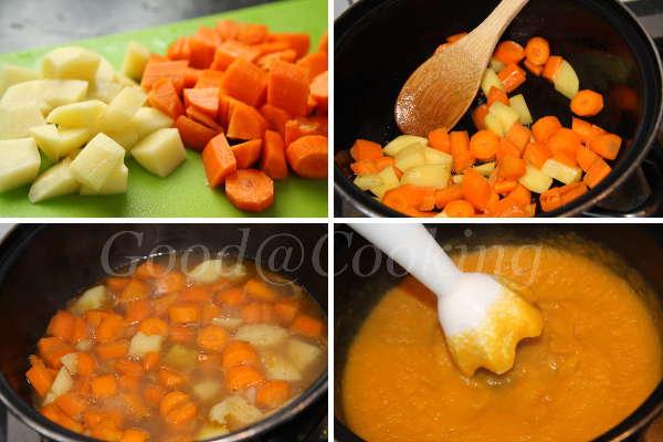 Recept van wortelsoep met kokosmelk