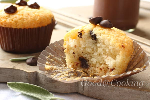 Gluten free muffins with chocolate drops with step by step photos