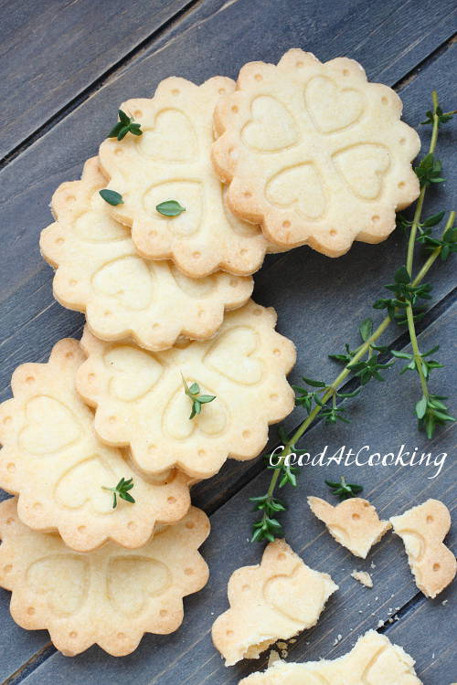 Gluten free shortbread cookies recipe with step by step photos