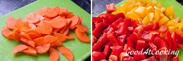 Рецепт супа из моркови и сладкого перца с беконом с пошаговыми фото