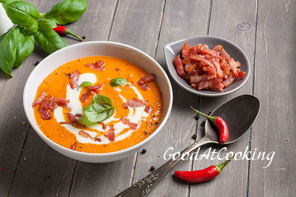 Carrot and pepper soup recipe with step by step photos