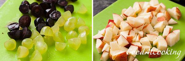 Recept van kipsalade met fruit
