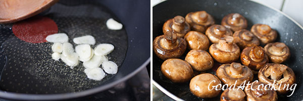 Рецепт запеченных шампиньонов с пошаговыми фотографиями