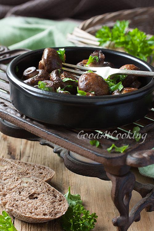 Recept van champignons uit de oven