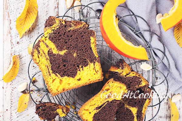 Рецепт мраморного кекса с тыквой