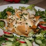 Мясные корзинки со свежим салатом