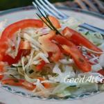 Салат из белой капусты со сладким перцем