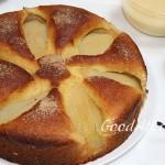 Грушевый пирог с ванильным соусом
