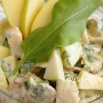 Куриный салат с щавелевым дрессингом