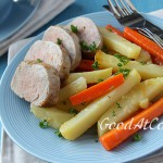 Свиная вырезка с тушеными овощами