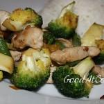 Овощи по-китайски с индейкой