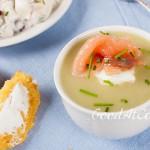 Сливочный суп из лука порея