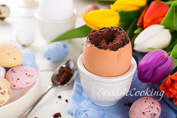 Рецепт шоколадного кекса в яичной скорлупе