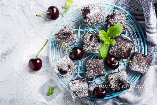 Рецепт брауни с шоколадом и вишней с пошаговыми фото
