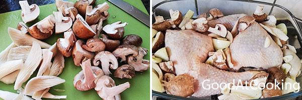 Рецепт курицы с грибами и розмарином с пошаговыми фотографиями